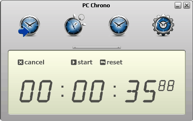pc chrono all in one timer stopwatch and clock